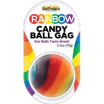 Candy Ball Gag - Rainbow