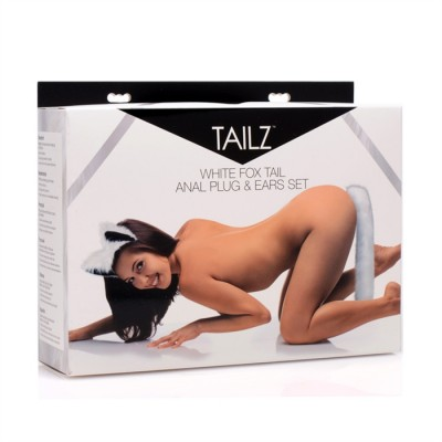 Anal Plug TAILZ - Fox Tail White Kit