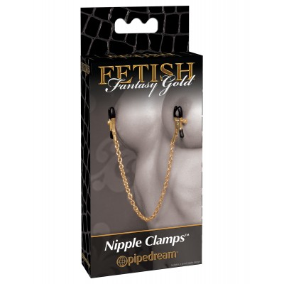 Pinces Fetish Gold - Chain Nipple Clamps