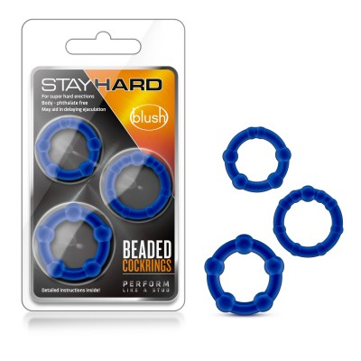 CockRing - Stay Hard Trio Ring Blue
